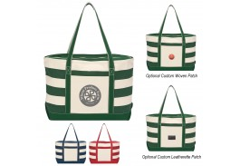 Cotton Canvas Nautical Tote Bag