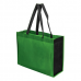 Non-Woven Two Toned 16 x 12 Gusseted Tote Bag