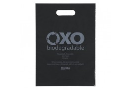 11 x 15 Oxo-Biodegradable Die Cut Handle Plastic Bag