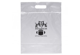 Zip Closure Die Cut Plastic Bag with Handle