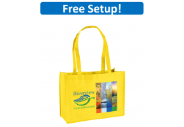 Franklin Non-Woven Tote Bag with Full Color Imprint