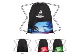 Tropical Drawstring Backpack